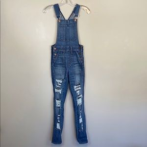 Madewell Adrian Distressed Jean Skinny Fit Overall